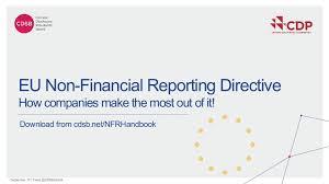 Non-financial reporting