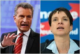 Günther H. Oettinger og Frauke Petry
