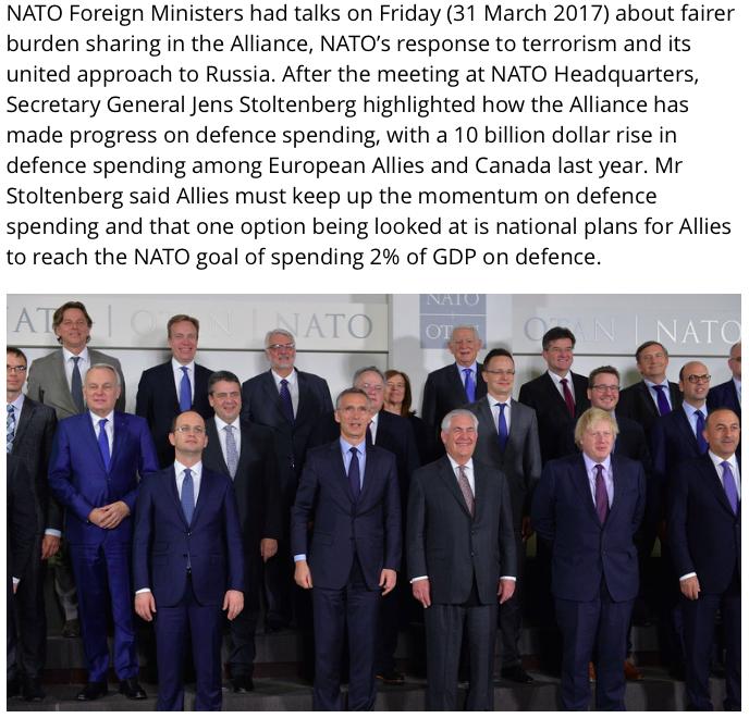 NATO-mødet i Bruxelles31. marts 2017